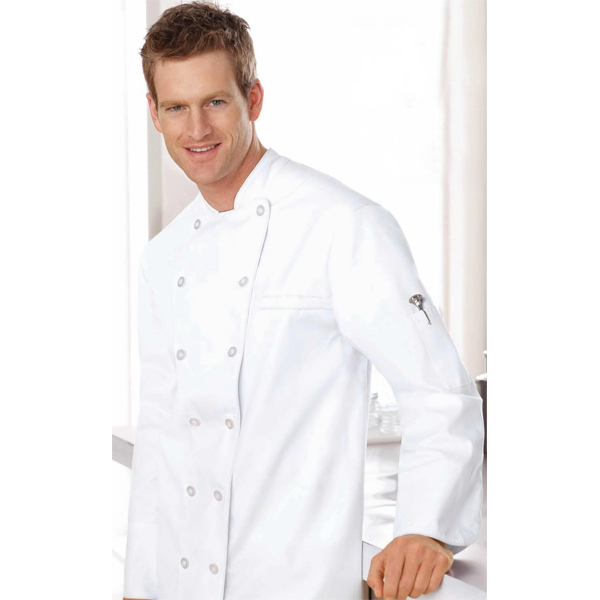 Imprinted North End (R) Unisex Deluxe Chef's Coat