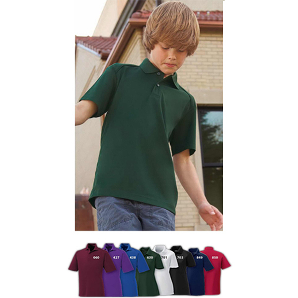 Custom Youth Shield Snag Protection Short Sleeve Polo