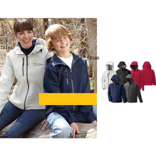 Customized Youth North End (R) 2-Layer Soft Shell Jacket with Hood
