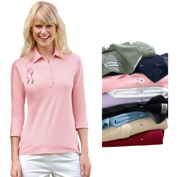Customized Ladies' Extreme 3/4 Sleeve Stretch Jersey Polo