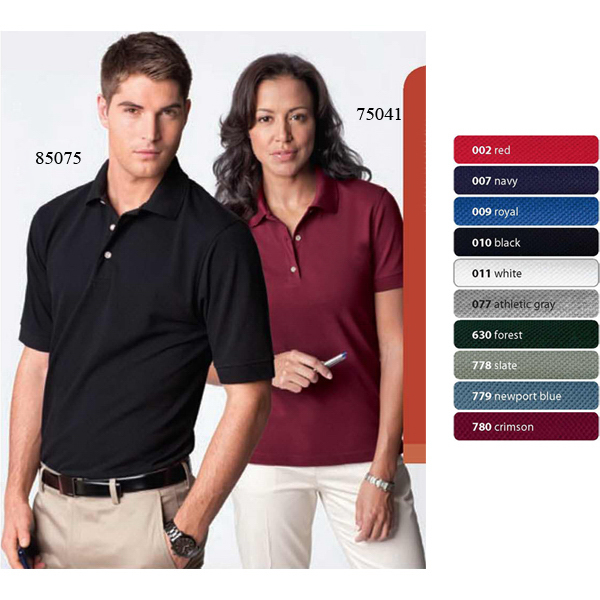 Customized Ladies' Short Sleeve Extreme Pique Polo with Teflon (R)