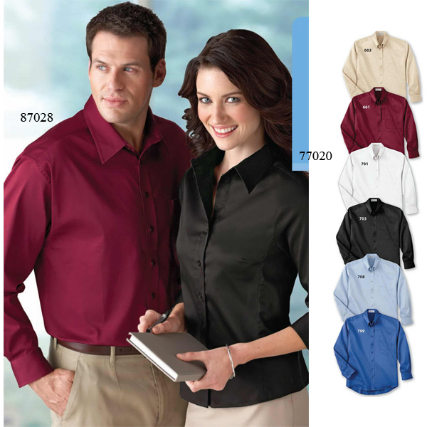 Custom Ladies' Il Migliore (R) Solid Stretch Shirt