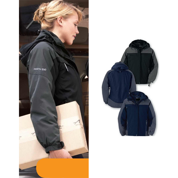 Printed Ladies North End (R) 3-In-1 Ripstop Jacket