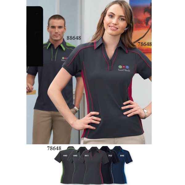 Printed Ladies' North End Sport (R) Sonic Polyester Pique Polo
