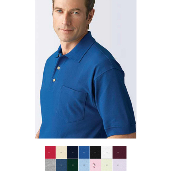 Imprinted Men's Extreme Cotton Blend Pique Polo with Pocket