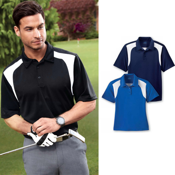 Custom Men's Extreme Eperformance (TM) Color-Block Textured Polo