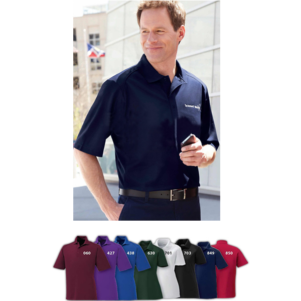 Customized Men's Shield Snag Protection Short Sleeve Polo
