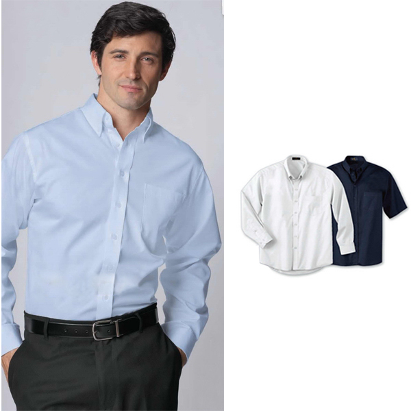 Custom Men's Long Sleeve Easy Care Twill Shirt