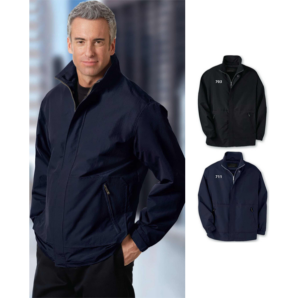 Personalized Men's North End (R) Textured Ottoman Mid-Length Jacket