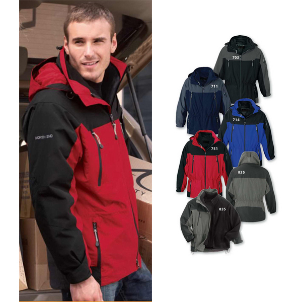 Printed Men's North End (R) 3-In-1 Ripstop Jacket