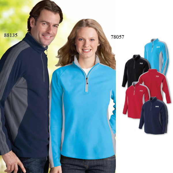 Custom Men's North End (R) Recycled Polyester Half-Zip Fleece Top
