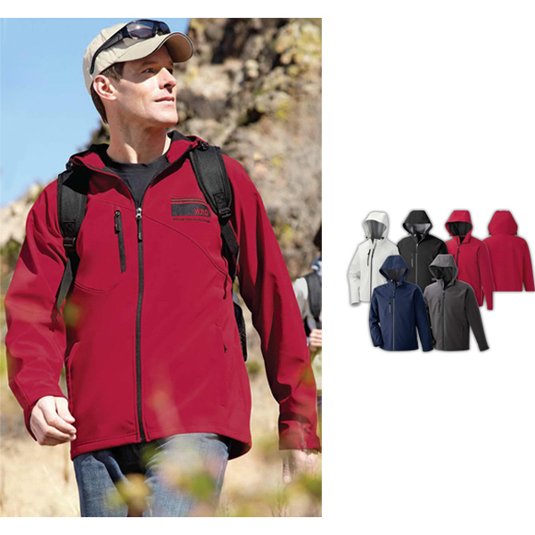 Custom Men's North End (R) 2-Layer Soft Shell Jacket with Hood
