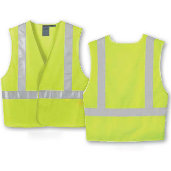 Imprinted Vertical Stripe Safety Vest