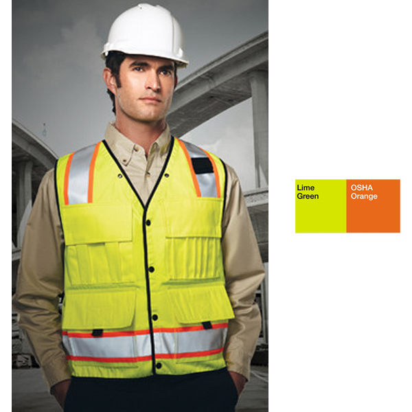 Custom Level- High Visibility Surveyor's Vest