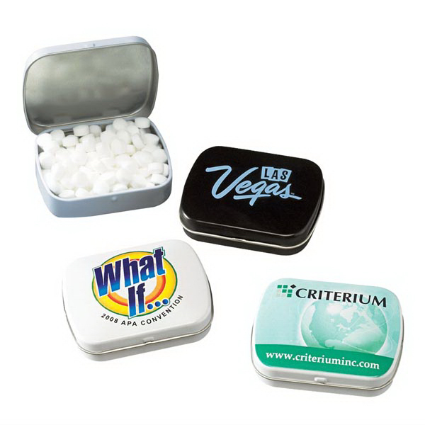 Promotional Domed Tin with mints