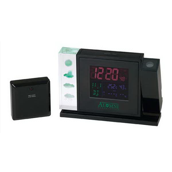 Customized Crystal Weather Station With Projection Clock
