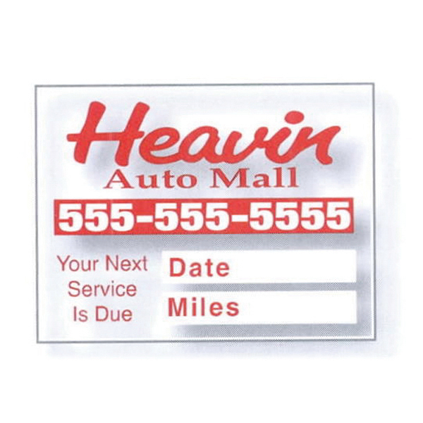 Personalized Static Stick Service Decal