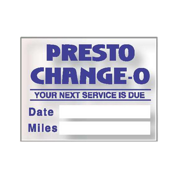 Imprinted Static Stick Service Decal