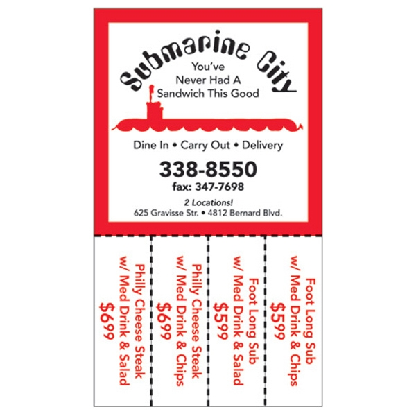 Imprinted Magnetic Coupon Magnet