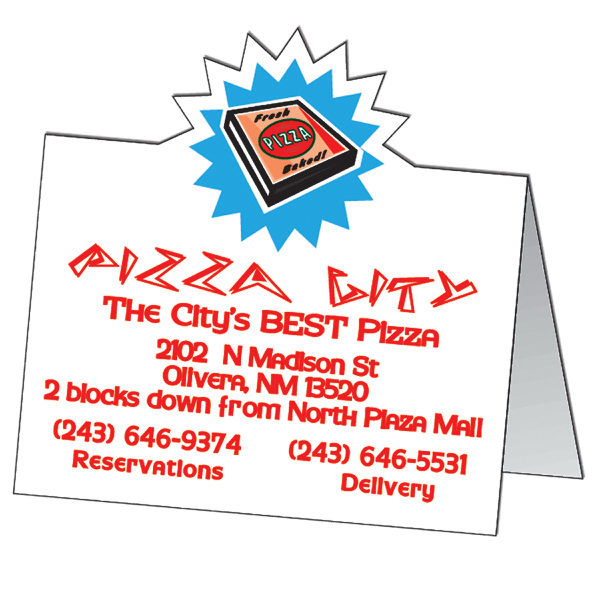 Printed Two sided folded tent card
