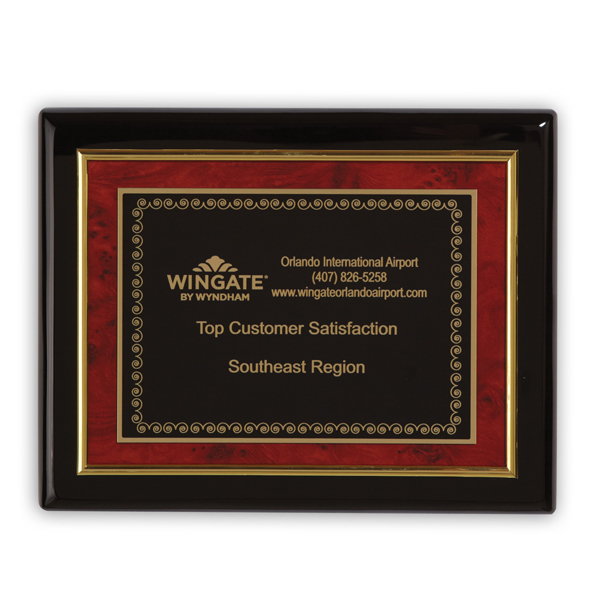 Printed Savoy Medium Plaque Award