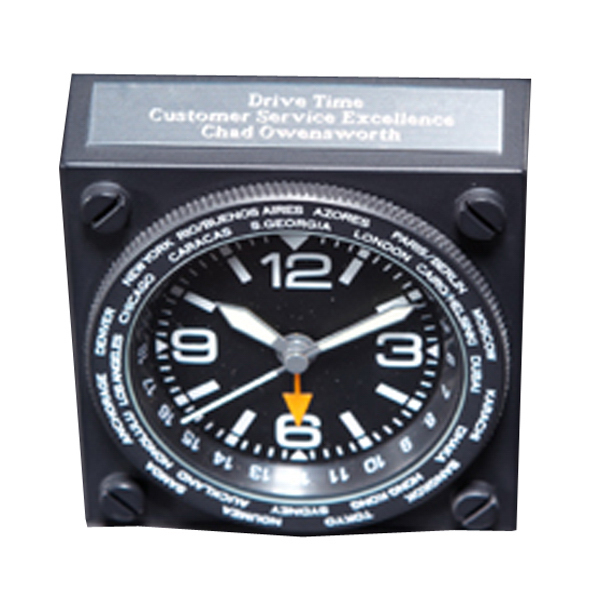 Promotional Aviator World Time Clock