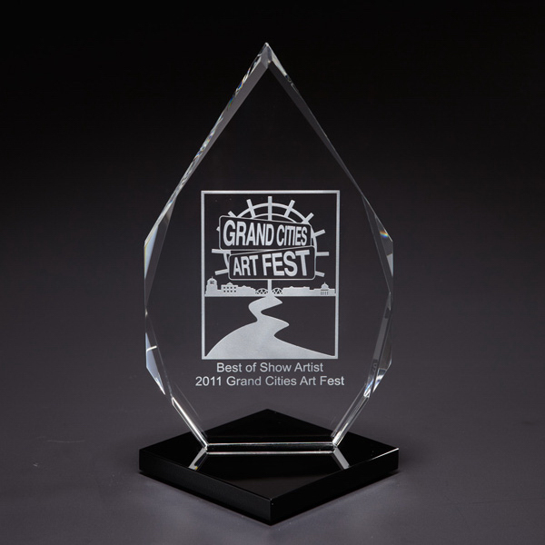 Customized Distinction Glass Award
