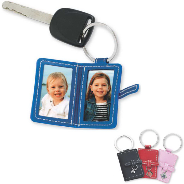 Personalized Leather photo key ring