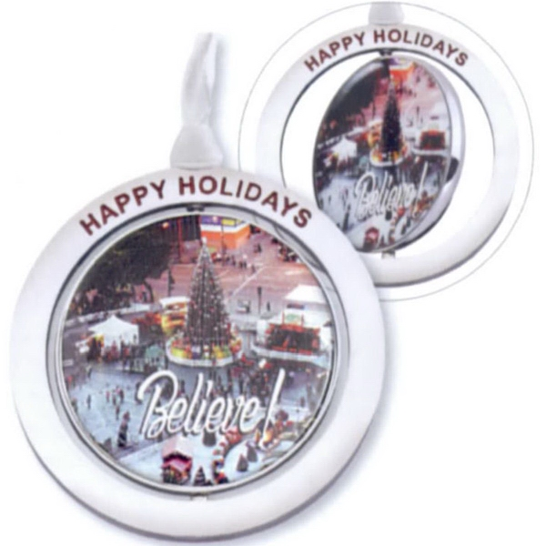 Personalized Spinning Ornament