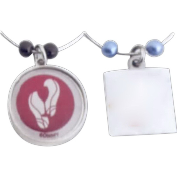 Imprinted Stock Round Photo Dome Wine Charm