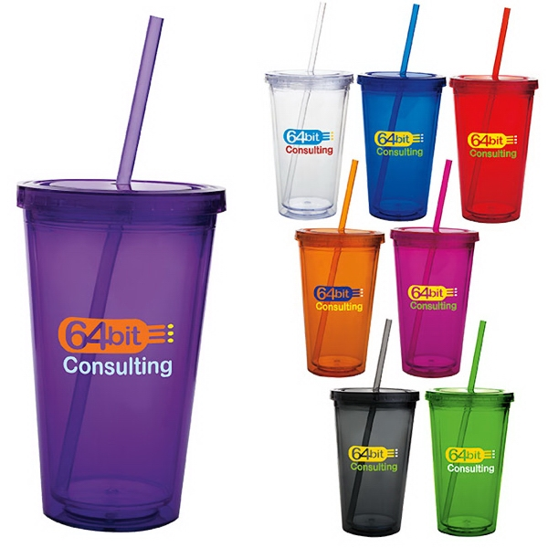 Custom Double Wall Acrylic Tumbler - 18 oz