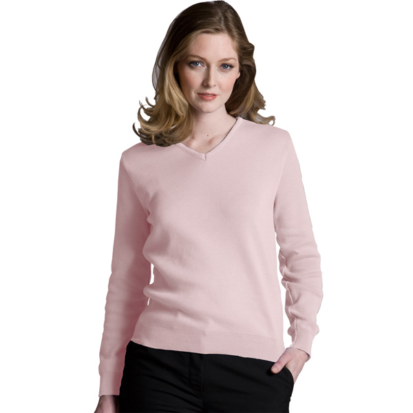 Custom Women's Cotton V-Neck Sweater