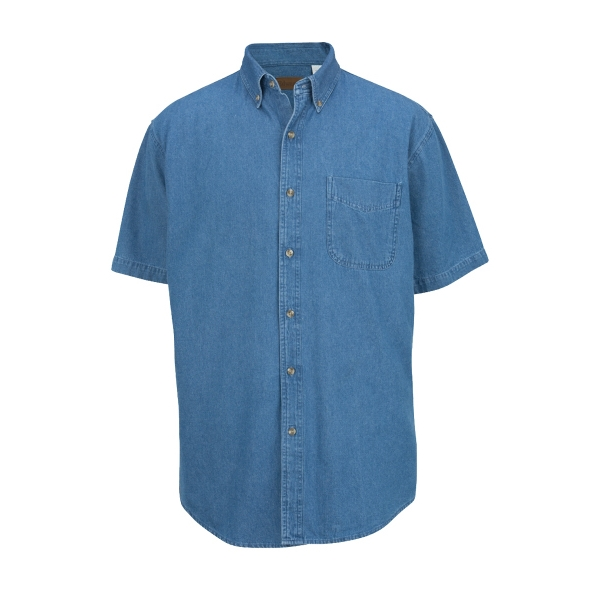 Personalized Men's Mid-Weight Short Sleeve Denim Shirt
