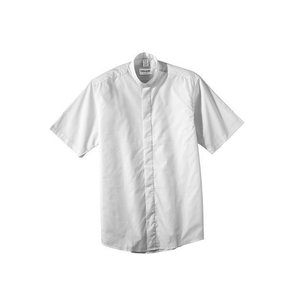 Custom Men's Short Sleeve Banded Collar Shirt