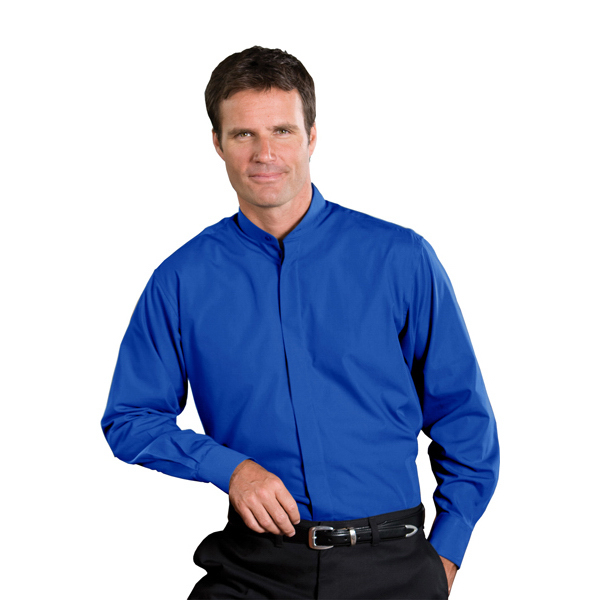 Personalized Men's Long Sleeve Banded Collar Shirt