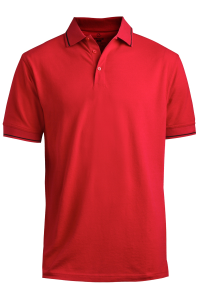 Custom Men's Short Sleeve Tipped Collar and Cuff Polo