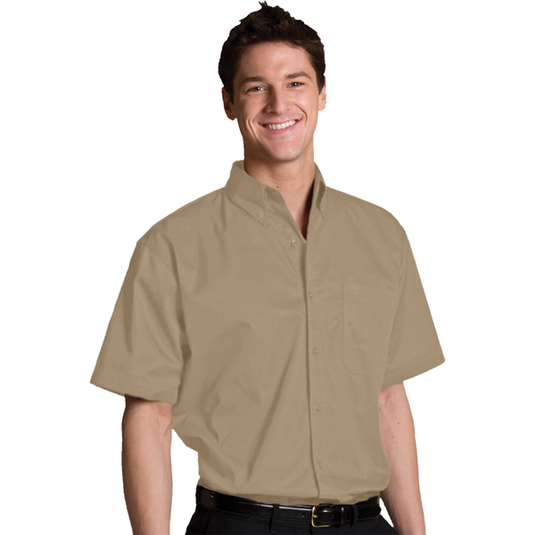 Customized Men's Cottonplus Short Sleeve Twill Shirt