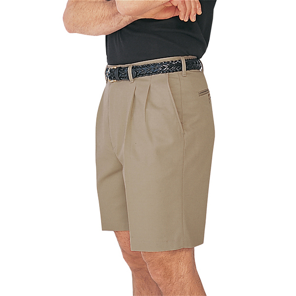 "Promotional Men's All Cotton Pleated Shorts 9"" Inseam"