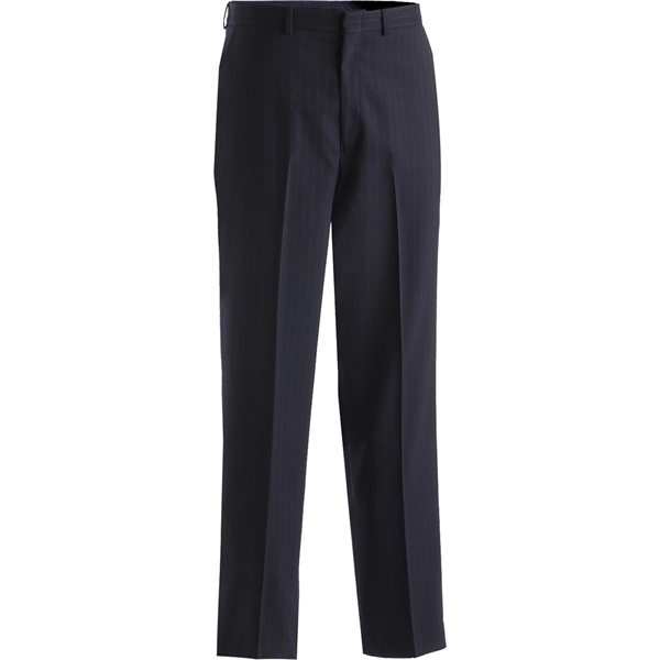 Custom Men's Pinstripe Flat Front Panel Pants
