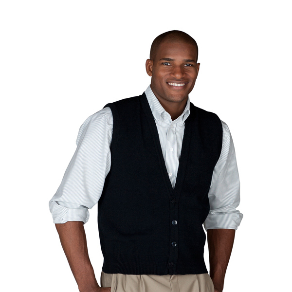 Imprinted Men's Button Front Vest with No Pockets