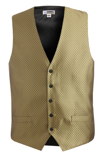 Imprinted Men's Diamond Brocade Vest