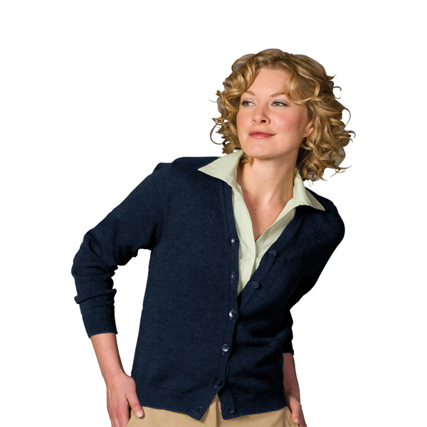 Personalized Women's V-Neck Cardigan No Pockets with Tuff-Pill Plus