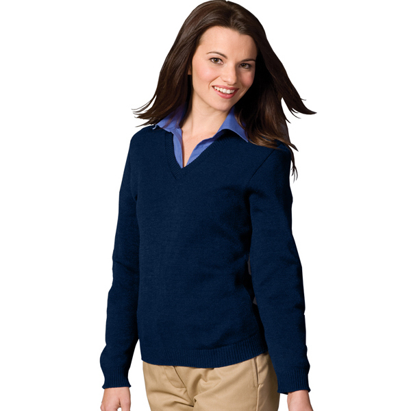 Personalized Women's V-Neck Sweater with Tuff-Pil (R) Plus