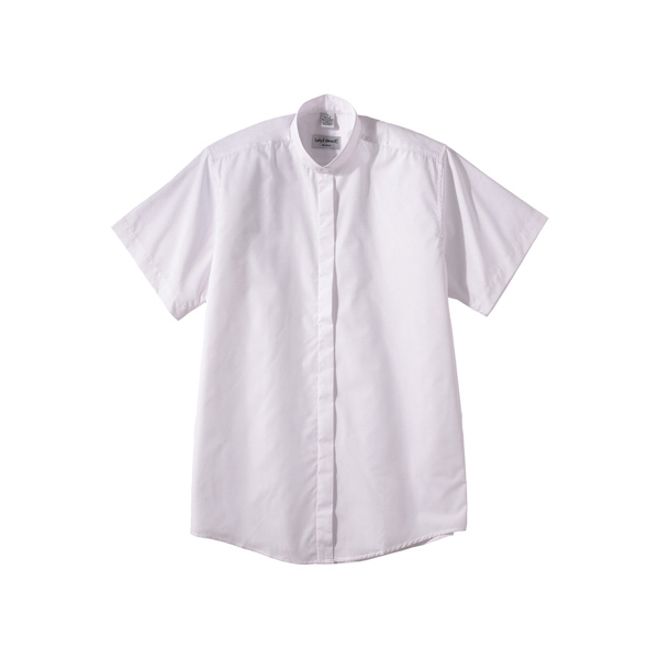 Imprinted Women's Short Sleeve Banded Collar Shirt