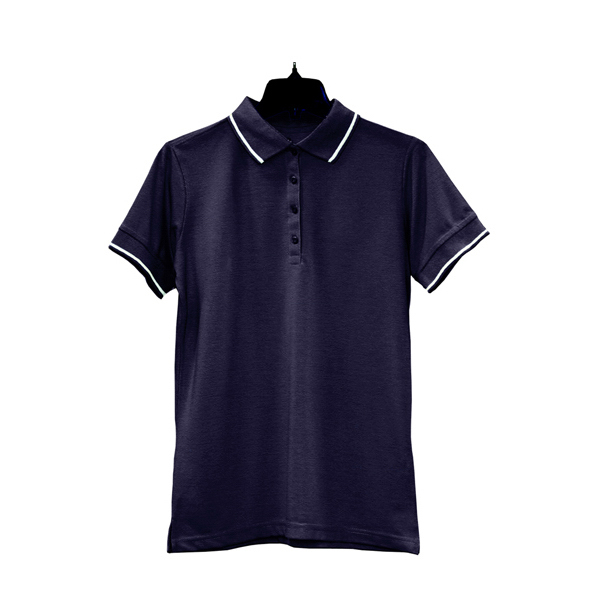 Promotional Women's Tipped Collar/Cuff Blended Pique Polo