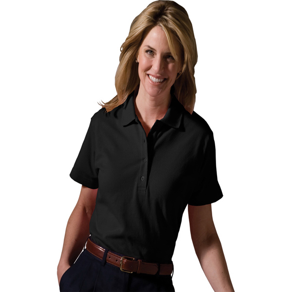 Promotional Women's Soft Tough All-Cotton Pique Polo