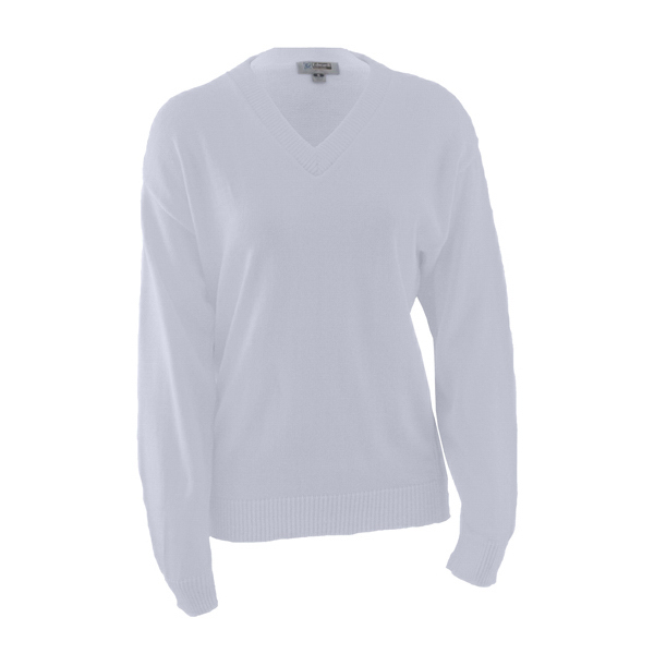 Imprinted V-Neck Sweater with Tuff-Pil (TM) Plus