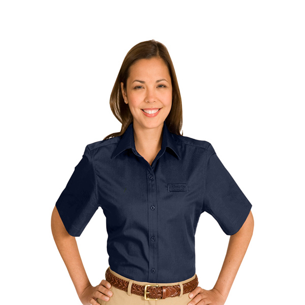 Printed Women's Cottonplus Short Sleeve Twill Shirt
