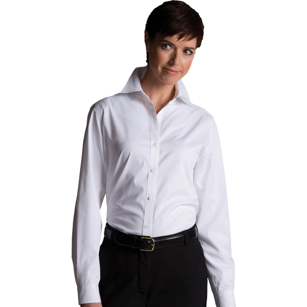 Imprinted Women's CottonPlus Long Sleeve Twill Shirt