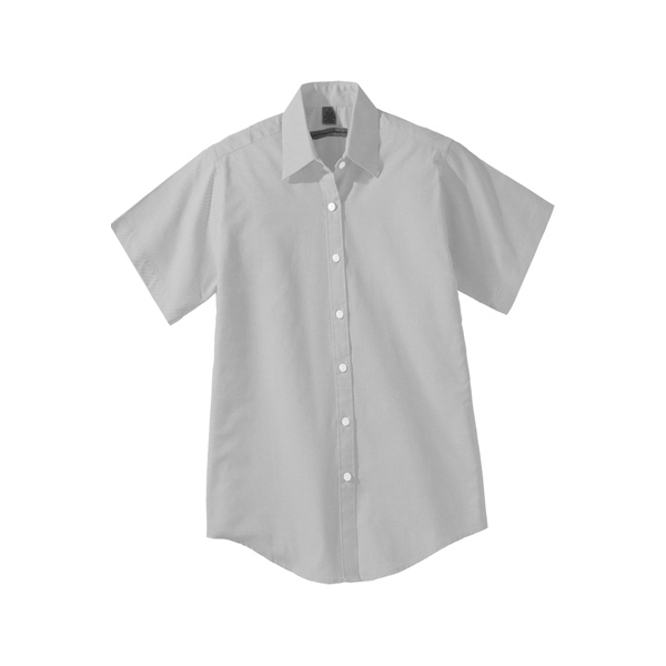 Personalized Women's Short Sleeve Pinpoint Oxford Shirt